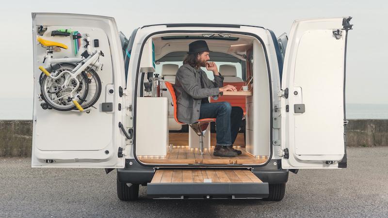 Nissan WORKSPACe: Das erste komplett elektrische Büro auf Rädern