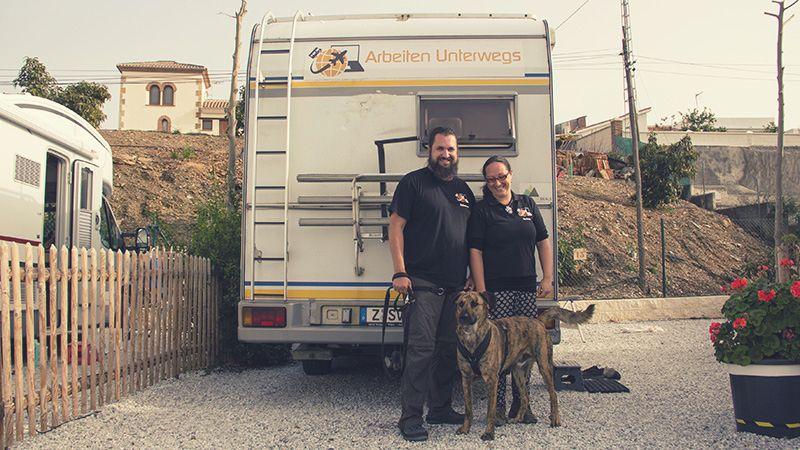 Steffi, Sebastian und Chief von Arbeiten unterwegs