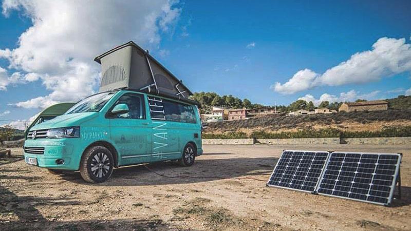 Tragbare Solarmodule fürs Camping